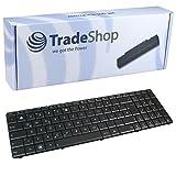 Trade-Shop Laptop-Tastatur / Notebook Keyboard Ersatz Austausch Deutsch QWERTZ für Asus K73BY K73T K73TA X53B X53BY X53E X53SJ X53T X53U X53Z X73B X73BR X73BY X73E X73K X73S X73T (Deutsches Tastaturlayout)