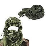 Militar-TLD Pañuelo Militar Ejercito (apto para usar en exteriores, para airsoft y paintball) diseño de palestina, color Verde
