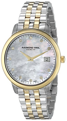 Raymond Weil Women's Toccata 34mm Two Tone Steel Bracelet Gold Plated Case Quartz Watch 5388-STP-97081
