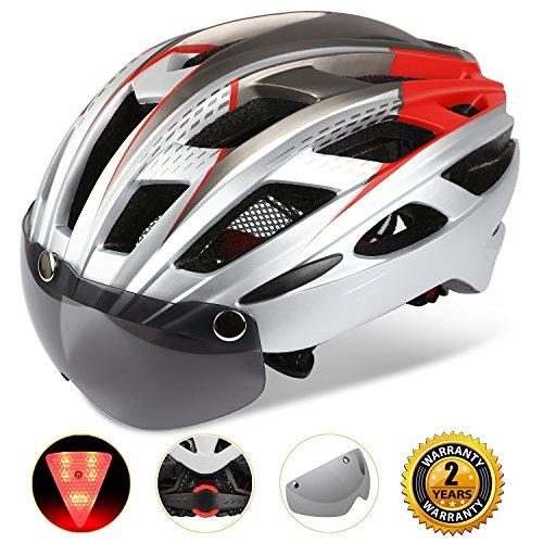 A-Best Fahrradhelm,CE-Zertifikat,Specialized Fahrradhelm mit Abnehmbarer Magnetischer Visier-Schutzbrille Super Light Integral Fahrradhelm Erwachsenen Fahrradhelm mit...