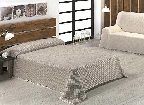 Texturas Home Beatriz Couvre-lit - drap multifonction Plusieurs tailles disponibles 3_PL_230_x_260_cms beige