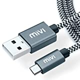 #4: Mivi 6ft long Nylon Tough Micro USB Cable with charging speeds up to 2.4Amps (Black)