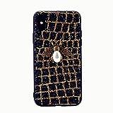 iPhone x Handyhülle,Dewanxin 2018 Creative Design 3D Bee Glitzern TPU + PC Umweltschutz Telefon-Kasten Protective Case Cover (iPhone x Handyhülle, Golden)