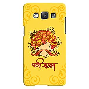 ColourCrust Samsung Galaxy A7 (2015) Mobile Phone Back Cover With Ghani Khamma Rajasthani Style - Durable Matte Finish Hard Plastic Slim Case