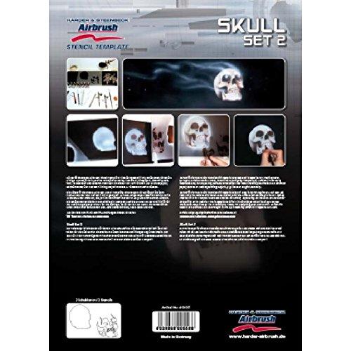 Airbrush Stencil Skull Set 2 410137 Harder & Steenbeck