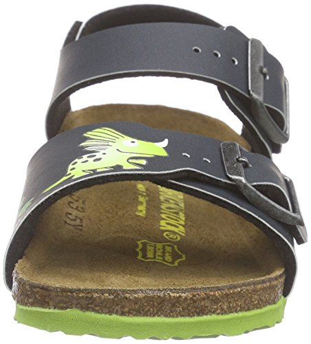 Birkenstock New York, Sandales Bride Cheville Mixte Enfant Bleu (Little Dragons Blue)