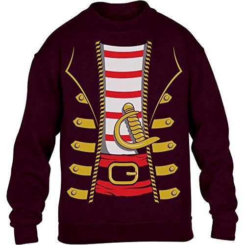 een Kinder Pullover Sweatshirt 110-116cm Kastanienbraun ()