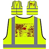 Anzac Day 25. April Neuheit Lustig Personalisierte High Visibility Gelbe Sicherheitsjacke Weste a733v