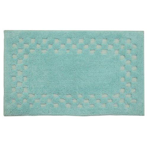homescapes-check-border-bathmat-rug-teal-soft-100-cotton-1200-gsm-washable-at-home-non-slip-spray-ba