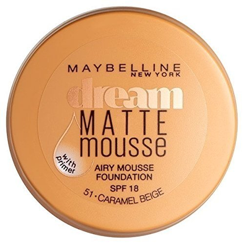 Maybelline Dream Matte Mousse Foundation, Nummer 051, Caramel Beige