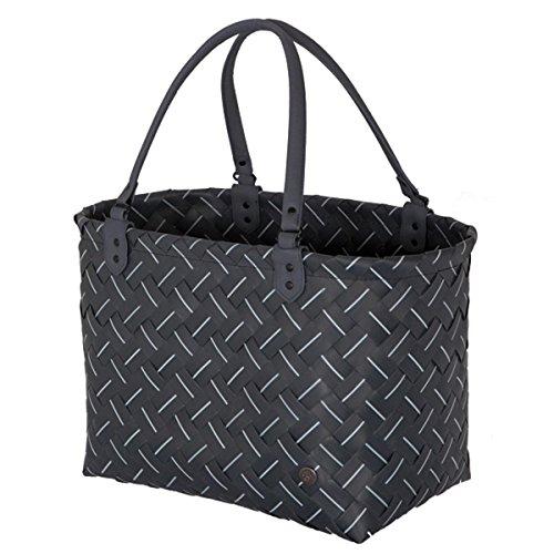 Moderne Linien Moderne-bett (Handed By - Luxury Shopper, Einkaufstasche - Dark Grey - Größe L - 33x39x25 cm)