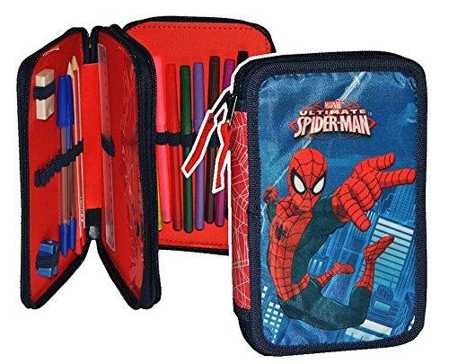 25 tlg. gefüllte Federmappe Spiderman - Kinder Schiefermappe Kindergarten Spider Spinne Spider-Man...