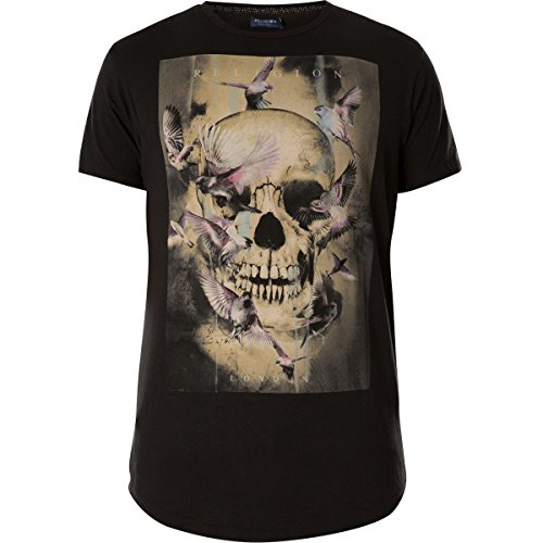 Religion Clothing Herren T-Shirt Shirt Canary Skull Schwarz Curved