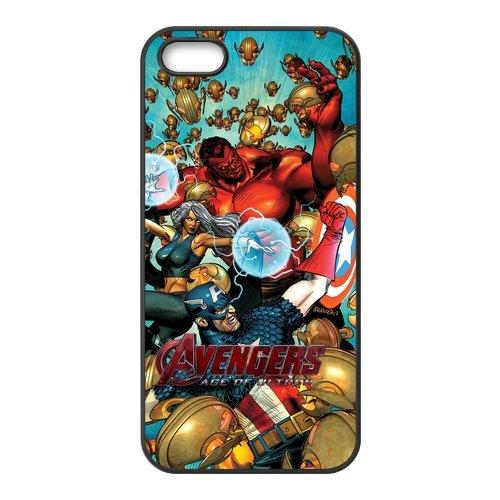 iPhone 5S Coque, The Avengers Series Étui pour Apple iPhone 55S Case Cover Coque en silicone skin Housse Coque Shell de protection pour iPhone 55S