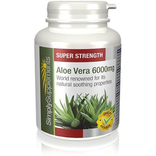Aloe Vera 6000 mg | Efectos calmantes para mejorar la digestión |Para un sistema digestivo sano | 360 comprimidos |
