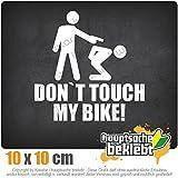 KIWISTAR Aufkleber - Dont touch my Bike! - Autoaufkleber Sticker Bomb Decals Tuning Bekleben