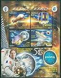 Mali 2017 50th anniversary ELDO ESRO miniature sheet 4 values Space Ariane Meteosat Lisa Malargue Proxima Thomas Pesquet Baikonur MNH JandRStamps