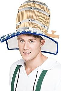 Smiffys - 350.325 - vestido de lujo de Oktoberfest del barril de cerveza Sombrero del hombre del traje