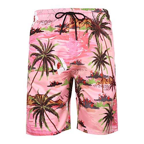 zysymx 2019 Men's Summer Beach Shorts Swimwear Beach Swim Quick Dry Board Shorts Surf Running Beach Pants