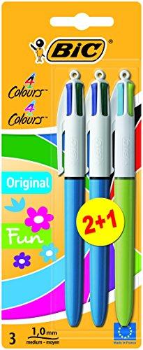 bic-4-couleurs-stylo-bille-pack-de-2-1-gratuit-couleur-assortis