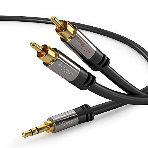 KabelDirekt 2m 3.5mm auf 2 Cinch Y Kabel - PRO Series