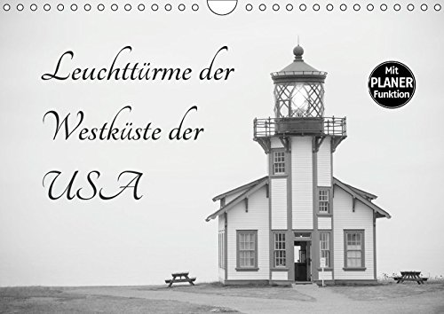 Leuchttürme der Westküste der USA (Wandkalender 2019 DIN A4 quer): Die schönsten Leuchttürme aus Washington, Oregon und Kalifornien (Geburtstagskalender, 14 Seiten ) (CALVENDO Orte)