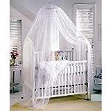 Butterme Insektenschutz Mückennetz Moskitonetz Baby Toddler Moskito Netz für Kinderbetten Himmelbett Weiß