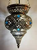 Orientalische Lampe aus messing Ahava silberfarbig
