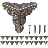 20er Antik Eckbeschlag Möbelbeschlag Möbel Ecken, Beschläge für Kisten Boxen Möbel Regal Tisch, Vintage Messing Antik Optik, inkl.Schrauben von Anadia