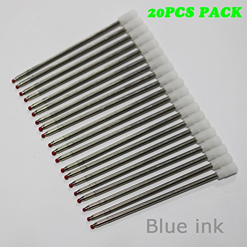 Preisvergleich Produktbild Ink Refill 70mm Kugelschreiber Nachfüllset für Swarovski Kristall Kugelschreiber und Multifunktionswerkzeug Kugelschreiber (20PCS Blau)