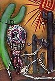 Toland Home Garden 1010891Sugar Skull Kaktus Deko House Flagge 28von 101,6cm Southwest Festive Desert Skelett, House