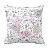 Microbiología patrón manta funda de almohada para sofá Home decorativo funda de almohada 45x 45cm y funda de almohada Funda de cojín para sofá