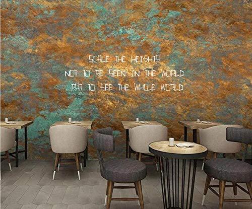 Huzi carta da parati personalizzata murale 3d carta da parati retrò nostalgico ferro ruggine alfabeto inglese cafe murale sfondo decorazione murale pittura pvc1m2customizablehuzi