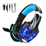 VTAKOL V9 Gaming Headset f�r PS4, 3.5mm Surround Sound Kabelgebundenes Gaming Kopfh�rer mit Mikrofon, LED-Licht, Kopfh�rer f�r Laptop, Xbox one, PC, Smartphone Bild