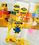 #9: Meecase MINIONS (MORE MINIONS.MORE DESPICABLE) In-Ear Earphone,Includes 3 Additional Earplug Covers - Great For Kids, Boys, Girls, Adults, Gifts Stereo Dynamic Wired Headphones.