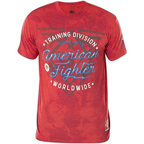 American Fighter by Affliction T-Shirt Stinger Rot, S (American T-shirt Rot Fighter)