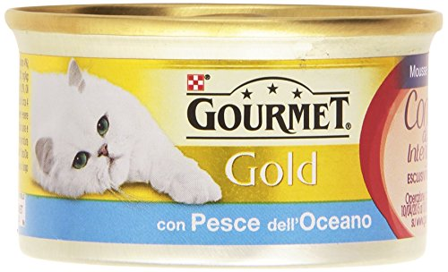 Gourmet gold, cibo per gatti, mousse con pesce - 85 g