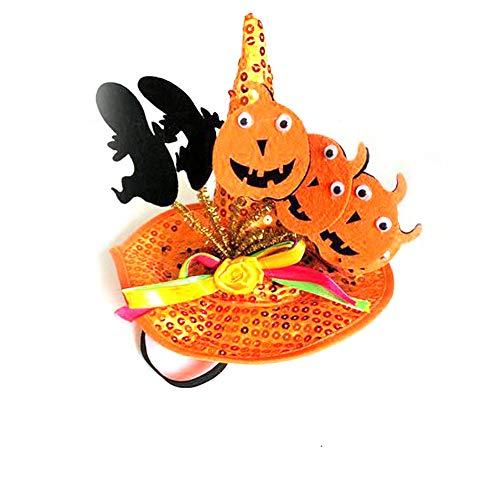 Halloween Party Set Halloween-Haustier-Dekoration verwandelt Hut One Size Orange Kürbis 1 Pack für Festival Cosplay Halloween Kostüm