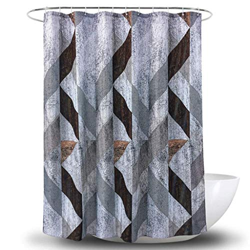 Duschvorhang 3D Digitaldruck Holzmaserung Polyester Wasserdicht Bad Vorhang Sanitär Partition (Größe: 180 cm * 180 cm)