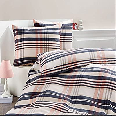 Pieridae Brushed Check 100% Cotton Checker Bedding Set Duvet Cover Pillowcase Set - inexpensive UK light store.