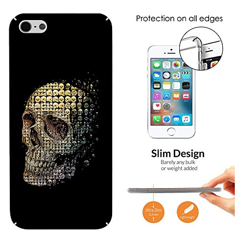 c00756 - Skull Skeleton Head Made Up Of Mini Skulls Collage Mosaic Design iphone 5C Fashion Trend CASE Ultra Slim Light Plastic 0.3MM All Edges Protection Case Cover-Clear