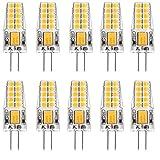 MATMO 10er Pack G4 3W LED Lampen, [10 Pack] 20 X 2835SMD,LED Birnen 300LM, Ersatz für 30W Halogenlampen, 12V AC/DC, Warmweiß, 360° Abstrahlwinkel, LED Leuchtmittel [Energieklasse A+]