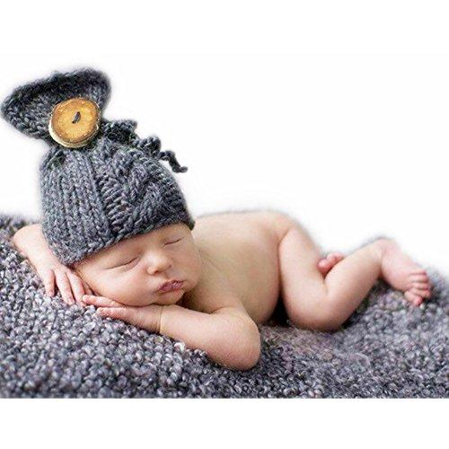 Hand stricken Neugeboren Junge Mädchen Outfits Baby Fotografie Requisiten Häkeln Hüte