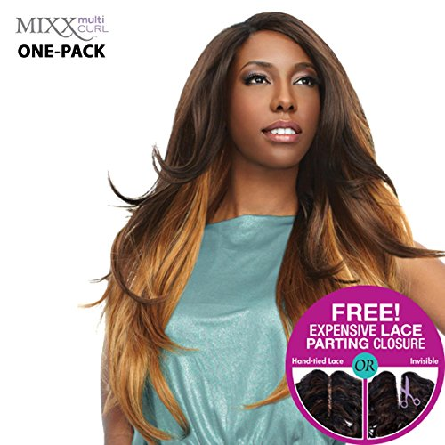[4 mèches Pack complet + Closure] sensationnel mural XL Mixx – Venetian Wave – Human Hair Blend Weave (One Pack Complete)
