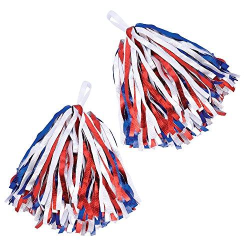 23Pom, Mädchen, Rot/Weiß/Blau, One size (Amerika Themen Kostüm Party)