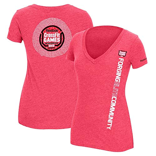 Reebok 2013 Crossfit F.E.F. Community Women's Pink Tri-Blend V-Neck T-Shirt -