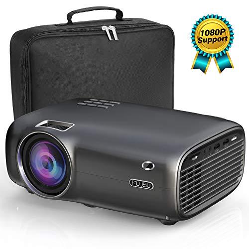 "Mini Beamer mit Tragetasche 4000 Lumen für Heimkino 1080P Full HD, Multimedia LCD Video Projektor LED 50000 Stunden mit max 200"" Display kompatibel mit Verbindung mit HDMI VGA SD USB AV Gerät"