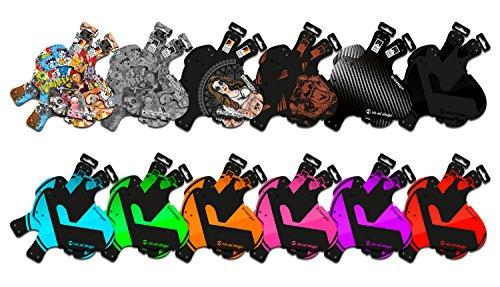 Riesel Design-Set 2X Schlamm:PE-Schutzblech-Spritzschutz-Mudguard-Fahrrad-Vorderrad-Hinterrad-Federgabel-Stickerbomb Ultra Black