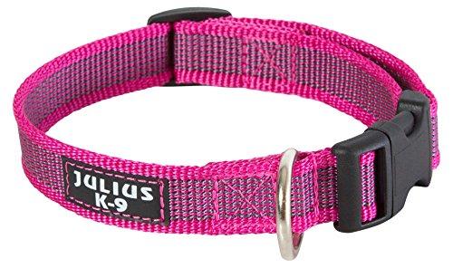 Julius-K9 - Collar para perro, Rosa (Pink/Gray), 20mm*27-42 cm