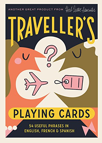 Traveler's Playing Cards: 54 useful phrases in English, French and Spanish (Herb Lester) (Poker-wörterbuch)